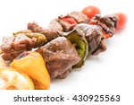 grilled beef bbq stick isolated ... | Shutterstock . vector #430925563