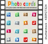 nature web icons for user... | Shutterstock .eps vector #430927324