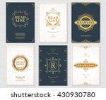 design elements set. vector... | Shutterstock .eps vector #430930780