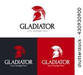 gladiator helmet logo design.... | Shutterstock .eps vector #430930900