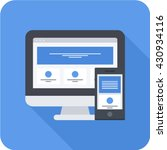 responsive web design long... | Shutterstock .eps vector #430934116