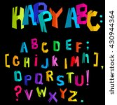 colorful alphabet with cracks... | Shutterstock .eps vector #430944364