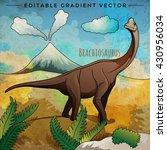 dinosaur in the habitat. vector ... | Shutterstock .eps vector #430956034