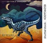 dinosaur in the habitat. vector ... | Shutterstock .eps vector #430956058