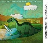 dinosaur in the habitat. vector ... | Shutterstock .eps vector #430956064