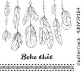 boho chic feathers and... | Shutterstock .eps vector #430959184