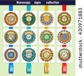 zodiac signs theme. set of... | Shutterstock .eps vector #430971883