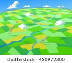 aerial view of fields and farms ...   Shutterstock .eps vector #430972300