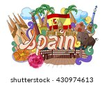 vector illustration of doodle... | Shutterstock .eps vector #430974613