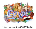 vector illustration of doodle... | Shutterstock .eps vector #430974634