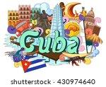 vector illustration of doodle... | Shutterstock .eps vector #430974640