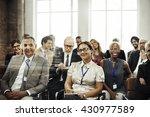 meeting seminar conference... | Shutterstock . vector #430977589