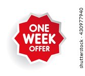 one week offer label red | Shutterstock .eps vector #430977940