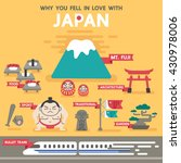 welcome to travel in japan... | Shutterstock .eps vector #430978006