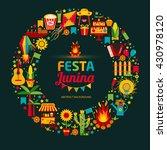 festa junina village festival... | Shutterstock .eps vector #430978120