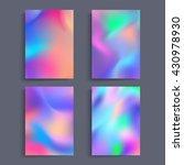 fluid colors backgrounds set.... | Shutterstock .eps vector #430978930