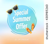 special summer offer label | Shutterstock .eps vector #430985260