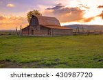 Vintage Barn In Rural Wyoming ...