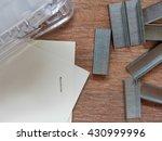 stapler  selective focus  | Shutterstock . vector #430999996