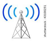 wireless tower   Shutterstock .eps vector #43100251