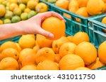 closeup image of a woman...   Shutterstock . vector #431011750