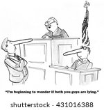 legal cartoon about a judge who ... | Shutterstock . vector #431016388