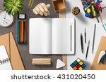 branding stationery mockup... | Shutterstock . vector #431020450