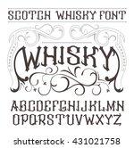 vector vintage label font.... | Shutterstock .eps vector #431021758