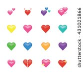 Set Of Heart  Icon Vector...