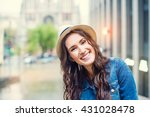 young beautiful laughing woman... | Shutterstock . vector #431028478