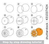 drawing tutorial for children....   Shutterstock .eps vector #431037424
