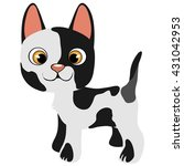 small purebred kitten. vector... | Shutterstock .eps vector #431042953
