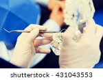people  medicine  stomatology... | Shutterstock . vector #431043553