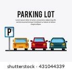 parking lot design. park icon.... | Shutterstock .eps vector #431044339