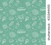 doodle seamless pattern with... | Shutterstock . vector #431044450