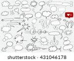 comic blank text speech clouds...   Shutterstock .eps vector #431046178