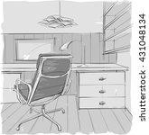 sketch of interior | Shutterstock .eps vector #431048134