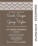 wedding invitation card with... | Shutterstock .eps vector #431049400