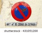 no parking sign in lisbon ...   Shutterstock . vector #431051200
