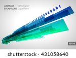 moving colorful abstract... | Shutterstock .eps vector #431058640