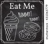 eat me. elements on the theme... | Shutterstock .eps vector #431063779