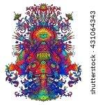 psychedelic mushroom dance.... | Shutterstock . vector #431064343