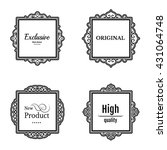 exclusive decor elements or... | Shutterstock .eps vector #431064748