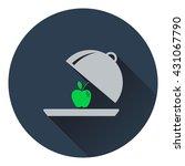 icon of apple inside cloche ....