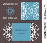 diy laser cutting vector... | Shutterstock .eps vector #431067874