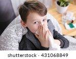 colds in children | Shutterstock . vector #431068849