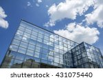 building facade with blue sky... | Shutterstock . vector #431075440