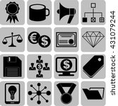 16 businessicon set. quality... | Shutterstock .eps vector #431079244