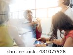 unposed group of creative... | Shutterstock . vector #431079928