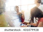 unposed group of creative... | Shutterstock . vector #431079928